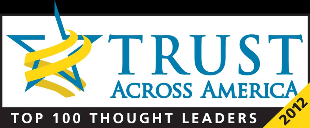 2012 Thought Leader, Trust Across America