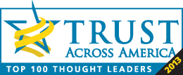 2013 Thought Leader, Trust Across America