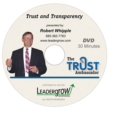 Trust and Transparency DVD